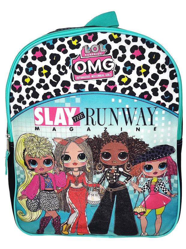 "LOL Surprise! OMG Girls 15"" Backpack Slay The Runway w/ Front Pocket"