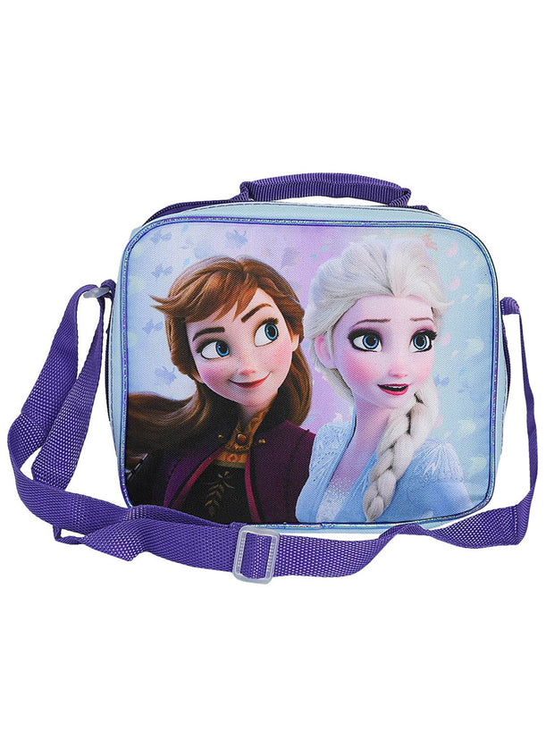 Disney Frozen 2 Insulated Lunch Bag Strap Anna w/ 12oz Water Bottle Popup Lid