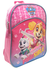 "Girls Paw Patrol 11"" Mini Backpack Skye Everest Anything is Pawsible Pink"