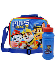 Paw Patrol Insulated Lunch Bag w/ Shoulder Strap & 16oz Pull Top Water Bottle