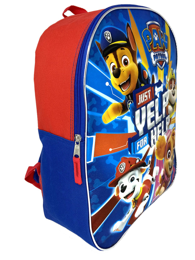 "Paw Patrol 15"" Backpack Chase Rubble Yelp & 3-Ring Zipper Pencil Pouch Marshall"