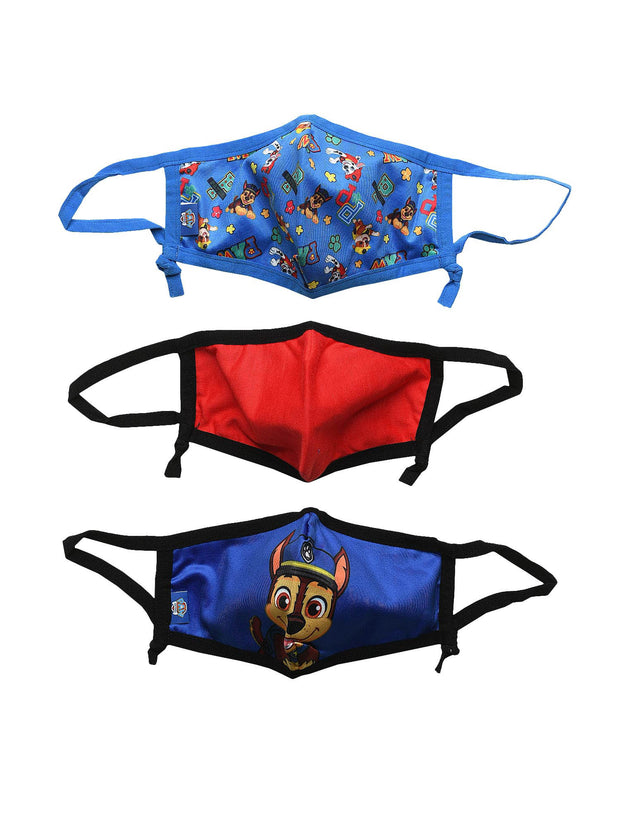 Boys Paw Patrol Chase Marshall Reusable Face Masks 3 Pack