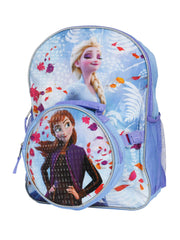 "Frozen 2 Anna & Elsa Backpack 16""w/  detachable Insulated Lunch Bag"
