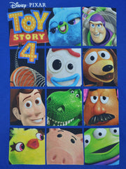 Boys Toy Story 4 T-Shirt Woody Buzz Forky Rex Hamm Blue SZ M (8/10)
