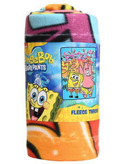"Boys Spongebob Squarepants Patrick Star Soft Throw Blanket 45"" x 60"""