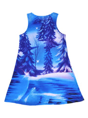 Frozen Girls Anna and Elsa Tank Dress Sublimation