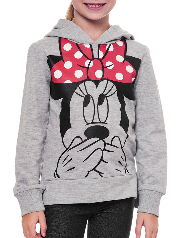 Disney Minnie Mouse Girls Hoodie Lightweight Sweatshirt Size XL(14)