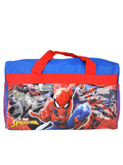 Marvel Spider-Man Vs Venom & Carnage Duffel Bag w/ Zipper Mesh Pouch Case