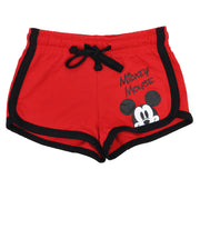 Girls Mickey Mouse Short Shorts Red Size XS