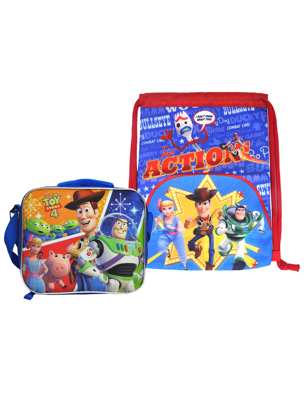 "Toy Story 4 Insulated Lunch Bag Shoulder Strap & 15"" Sling Bag 2-Piece Set"