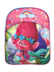 "Trolls Mini Backpack 11"" Poppy Branch w/ Music 3D Raised Stickers Set (22-CT)"
