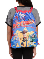 "Disney Pixar Toy Story 4 Kids 15"" Sling Bag Woody Buzz Bo Peep Forky Red"
