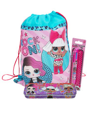 L.O.L. Surprise! Sling Bag & Tin Pencil Case & Retractable 6-Color Pen 3-Pcs Set