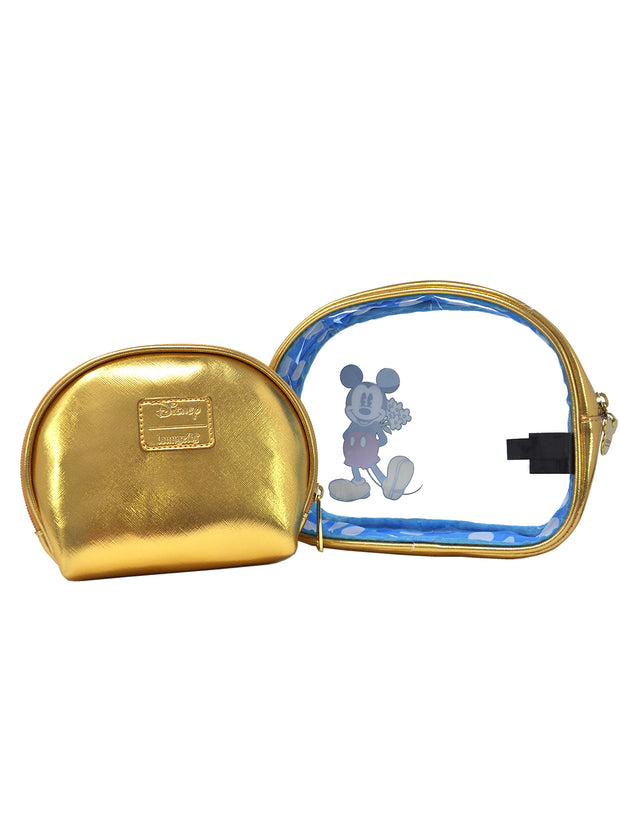 Loungefly x Disney Minnie Mickey Cosmetic Bag 2-Piece Toiletry Set