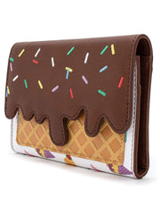 Disney x Loungefly Women's Ice Cream Cones Princesses Snap Flap Wallet