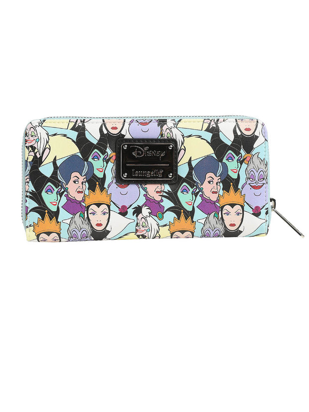Loungefly x Disney Women's Zip Around Wallet Princess & Villains