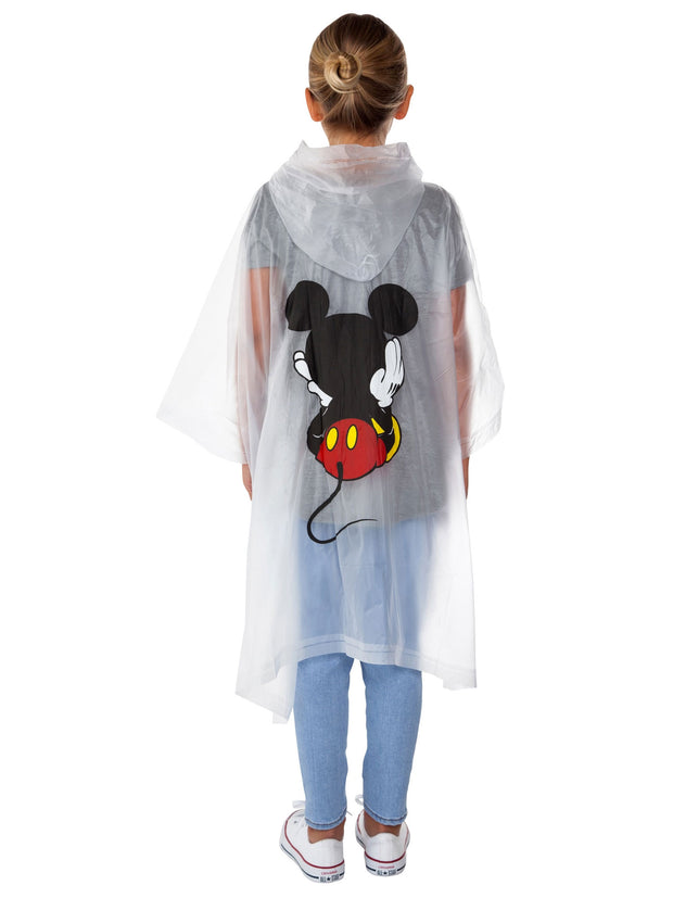 Girls Mickey Mouse Waterproof Rain Poncho