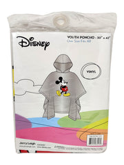 Disney Youth Boys Kids Mickey Mouse Rain Poncho Clear Water Resistant