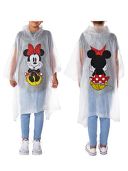 Girls Minnie Mouse Rain Poncho Waterproof Outerwear Youth