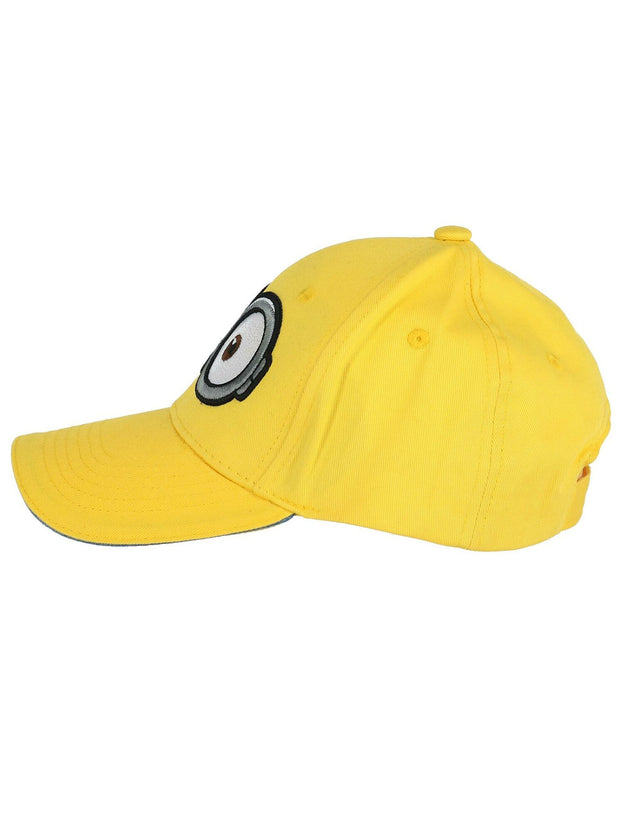 Kids Minions Baseball Hat Yellow Cap Embroidered Eyes