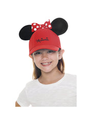 Red Minnie Mouse Ears Hat with Minnie Wallet Girls 2Pc