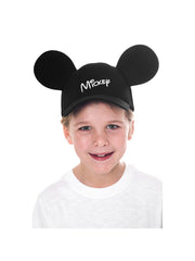 Mickey Mouse Black Baseball Hat with Ears Boys
