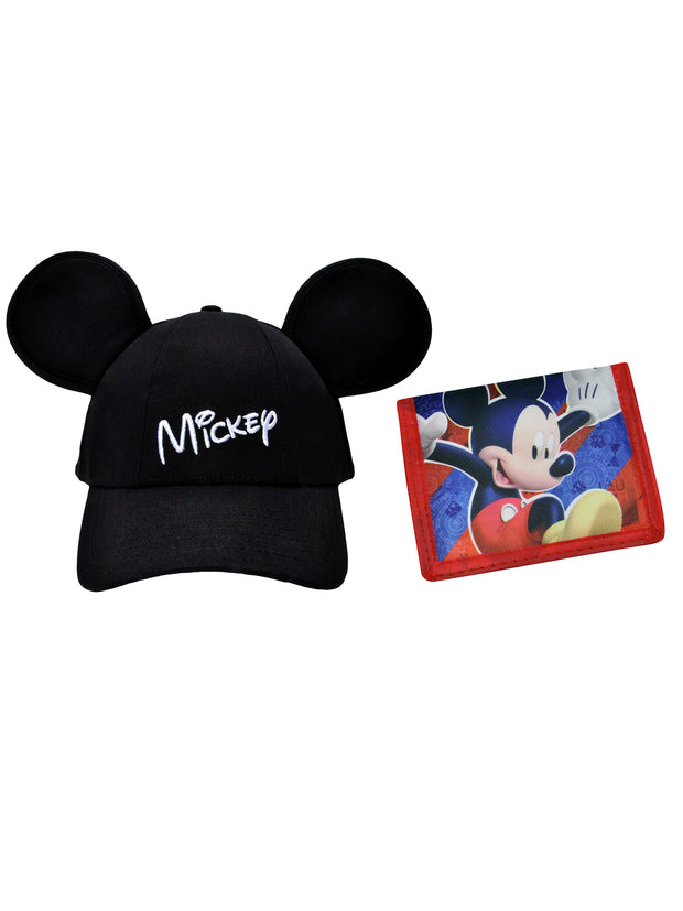 Mickey Mouse Ears Hat and Bifold Wallet 2Pcs