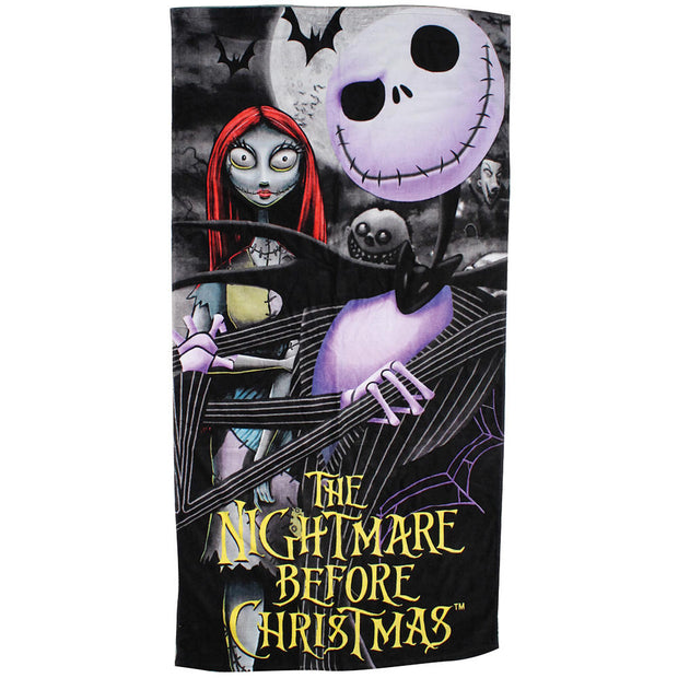Nightmare Before Christmas Jack & Sally Beach Towel 58x28 Cotton
