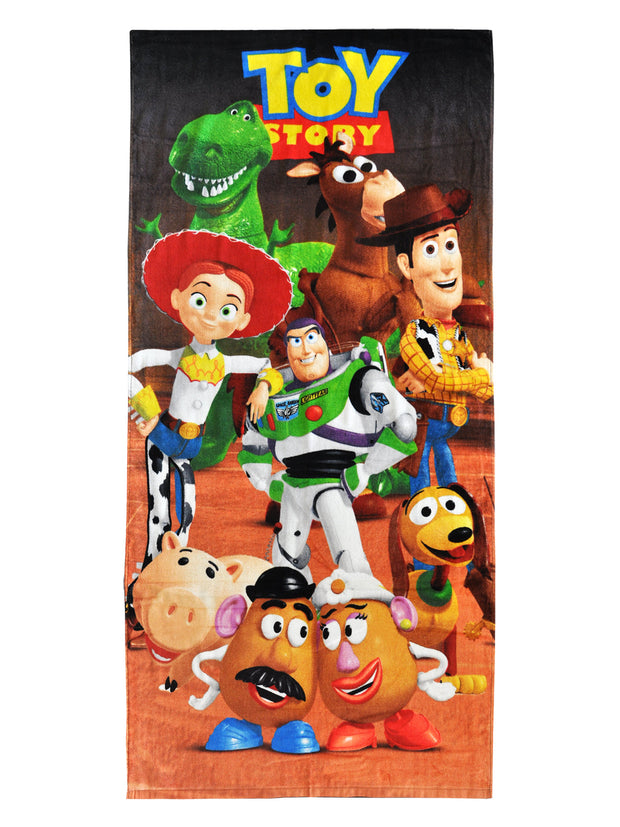 "Toy Story Characters 58x28 Beach Towel & 15"" Sling Bag 2-Piece Set"