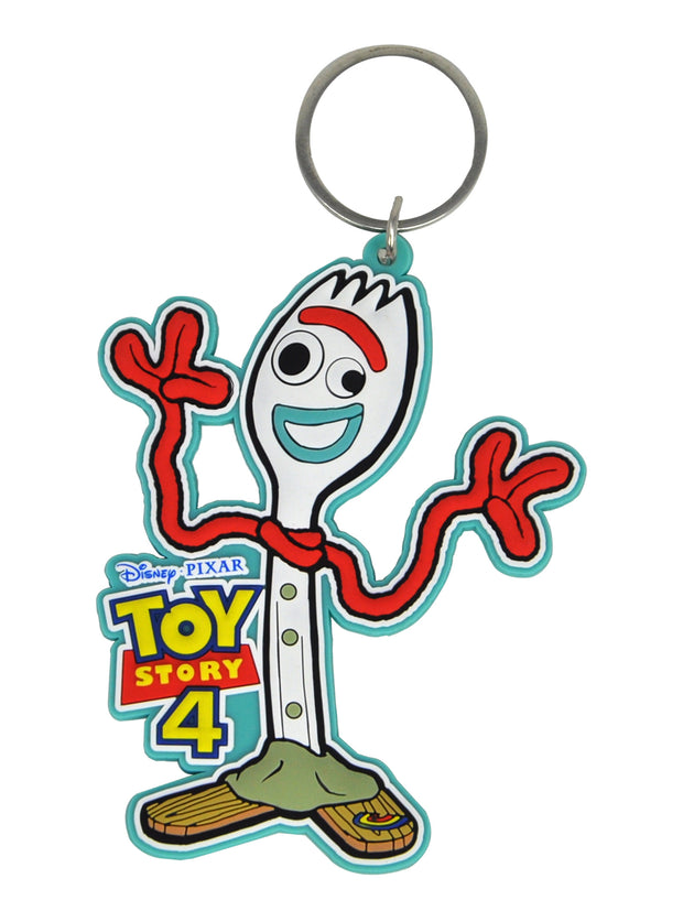 "Disney Toy Story 4 Backpack 15"" with Forky Key Chain 2-Piece Set"