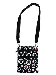 Disney Mickey & Minnie Mouse Passport Bag All-Over Print Travel Crossbody Purse