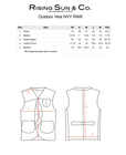 Outdoor Vest-NVY RAW