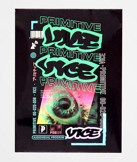 Primitive x Vice Program Sticker
