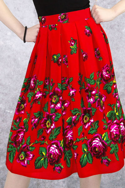 "Red Polish Folk ""Paulina"" Skirt"