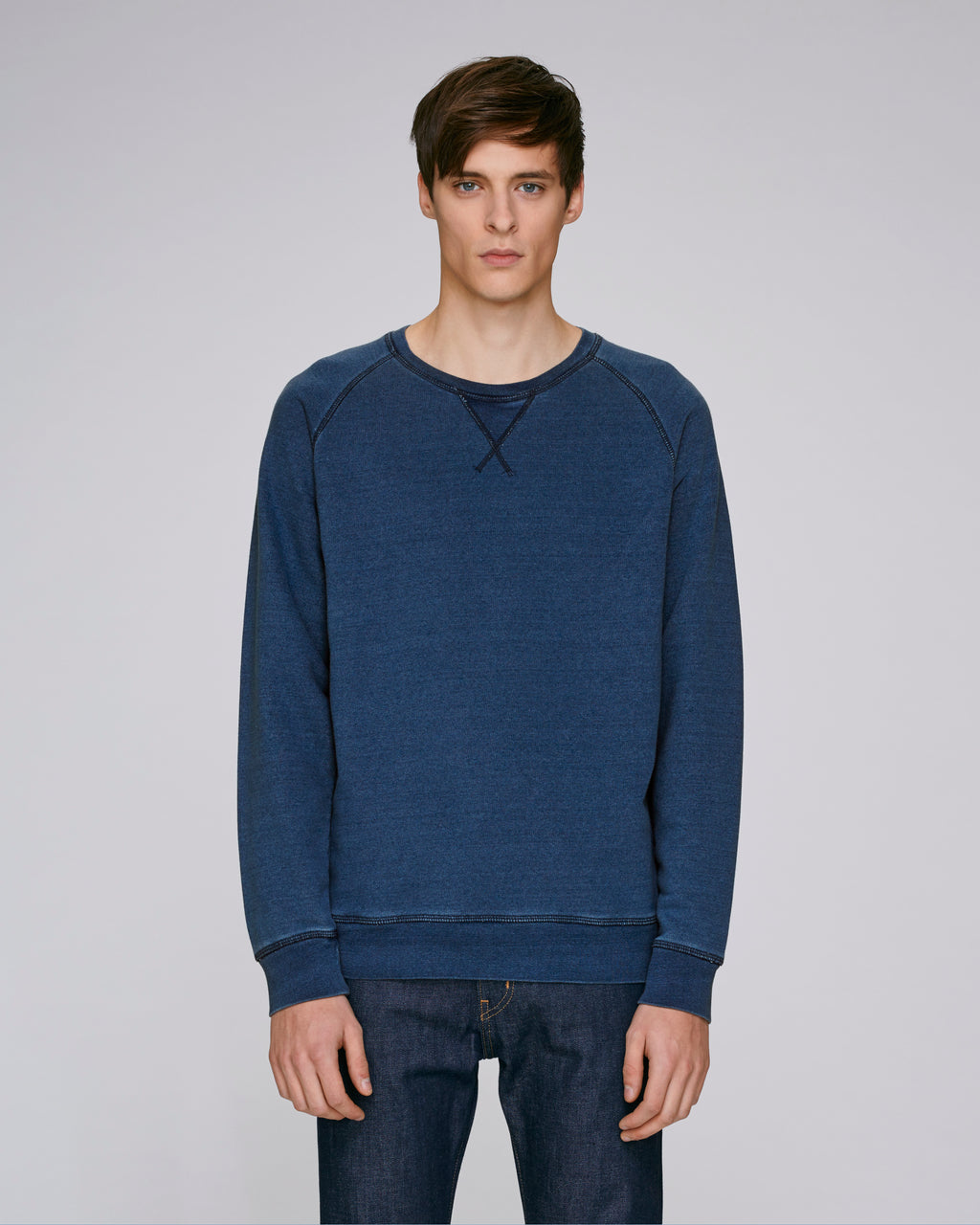 DENIM RAGLAN SWEATSHIRT
