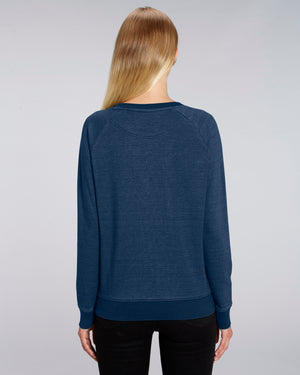 DENIM CREW NECK SWEATSHIRT