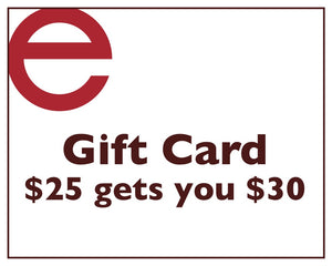 Gift Card - $25 = $30
