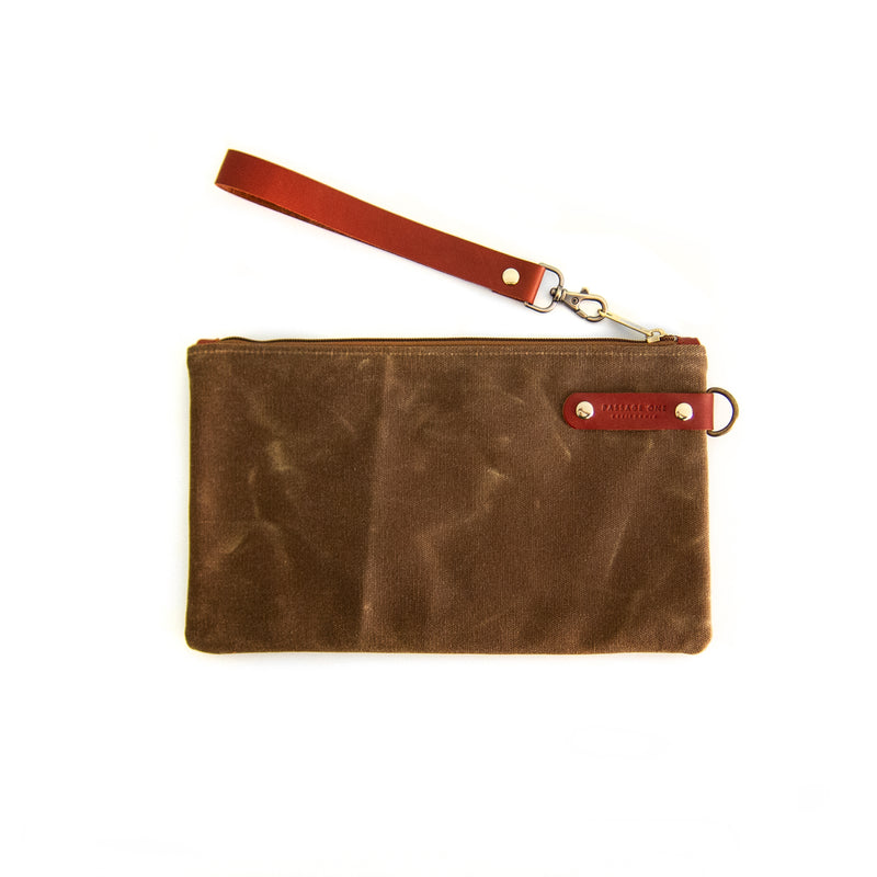 Airporter Clutch - Cinnamon Waxed