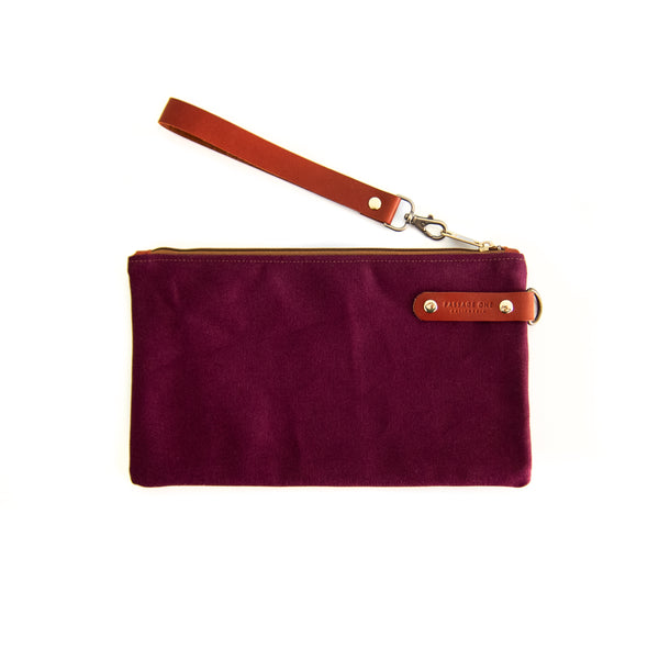 Airporter Clutch - Burgundy