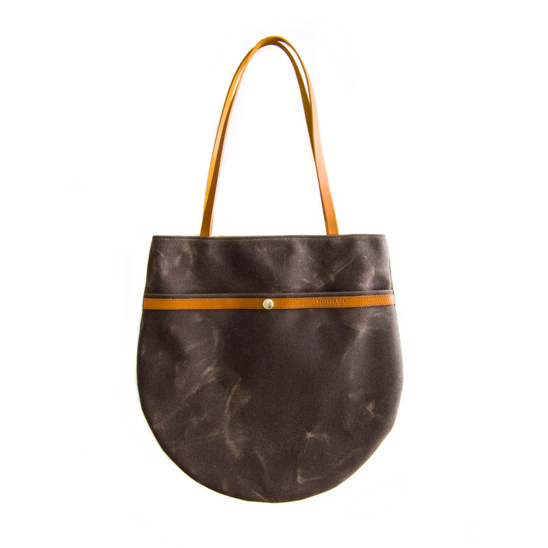 Amsterdam Market Tote - Dark Brown Waxed