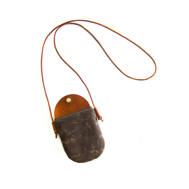 Bali Crossbody Bag - Dark Brown Waxed