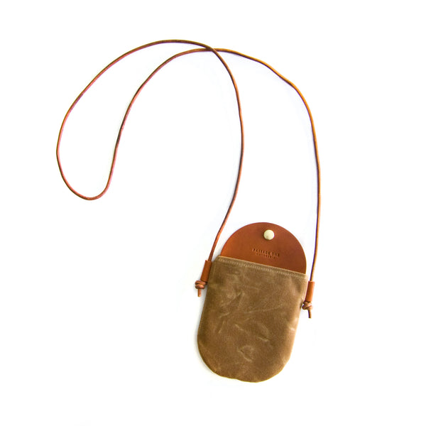 Bali Crossbody Bag - Cinnamon Waxed