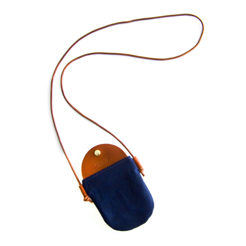 Bali Crossbody Bag - Navy Waxed
