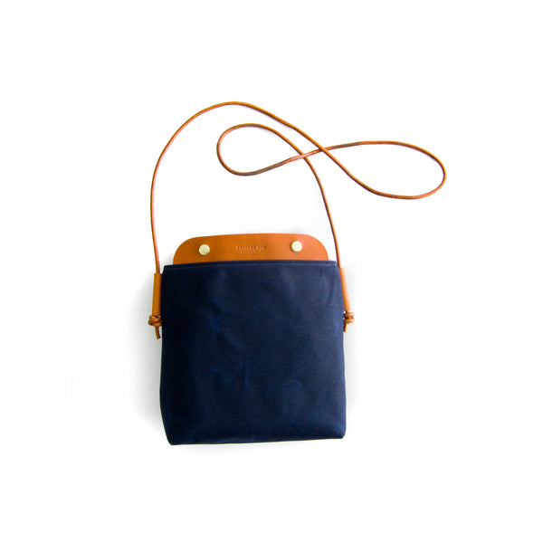 Bahamas Crossbody Bag - Navy Waxed