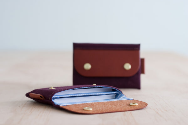 Salzburg Card Wallet - Cinnamon Waxed