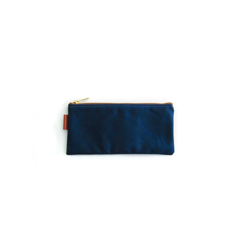 California Pouch - Navy Waxed