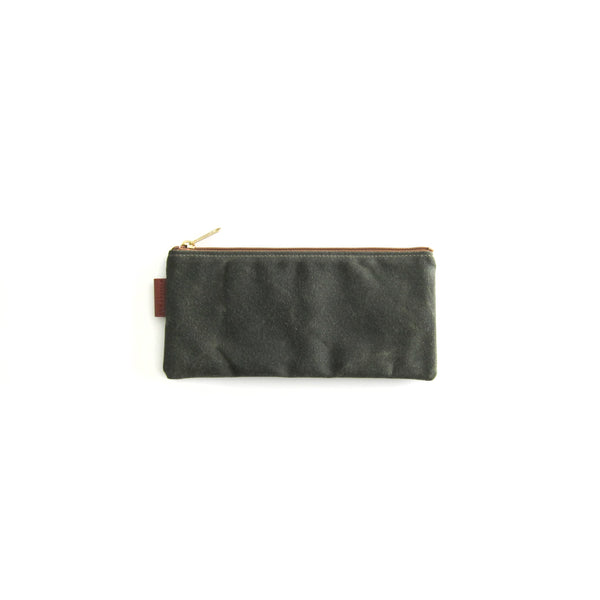 California Pouch - Olive Waxed