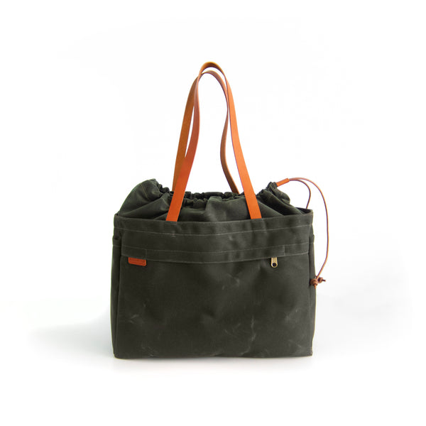 Cabo Tote Bag - Olive Waxed