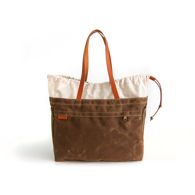Cabo Tote Bag - Natural + Cinnamon Waxed