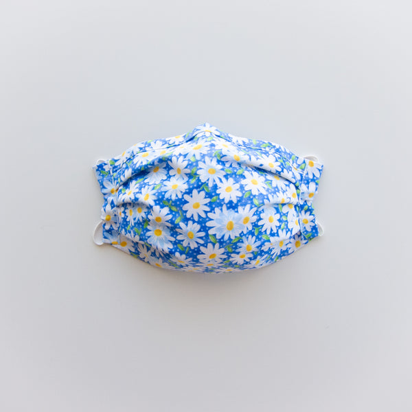 Adult Reusable Face Mask - Blue Daisy